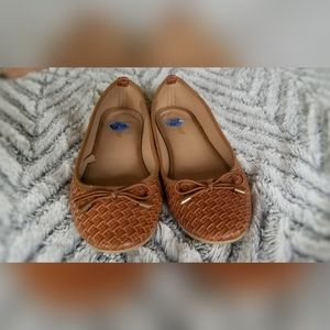 Wanted Chestnut ballet flats with bow detail